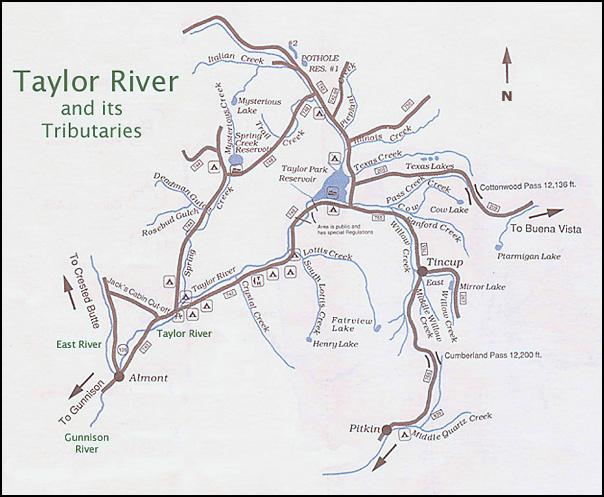 Taylor Park Colorado Map.Fly Fishing The Gunnison Valley Western Slope Of Colorado Riffle